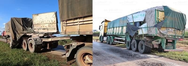 acidente 2 carreta e 1 camionete