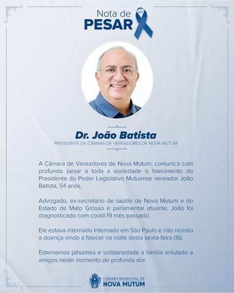 nota de pesar João Batista